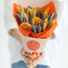 Букет из сухоцветов Апельсиновый комплимент